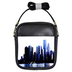 Abstract Of Downtown Chicago Effects Girls Sling Bags by Simbadda
