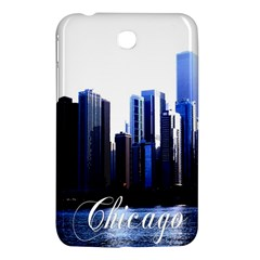 Abstract Of Downtown Chicago Effects Samsung Galaxy Tab 3 (7 ) P3200 Hardshell Case  by Simbadda