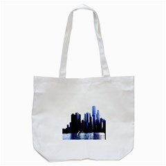 Abstract Of Downtown Chicago Effects Tote Bag (white) by Simbadda
