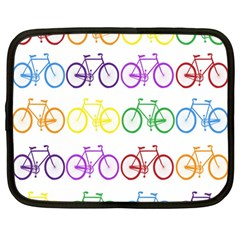 Rainbow Colors Bright Colorful Bicycles Wallpaper Background Netbook Case (large) by Simbadda