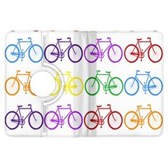 Rainbow Colors Bright Colorful Bicycles Wallpaper Background Kindle Fire Hdx Flip 360 Case by Simbadda