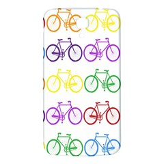 Rainbow Colors Bright Colorful Bicycles Wallpaper Background Samsung Galaxy Mega I9200 Hardshell Back Case by Simbadda