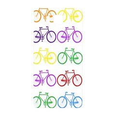 Rainbow Colors Bright Colorful Bicycles Wallpaper Background Samsung Galaxy Alpha Hardshell Back Case by Simbadda