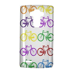 Rainbow Colors Bright Colorful Bicycles Wallpaper Background Lg G4 Hardshell Case by Simbadda