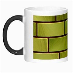 Modern Green Bricks Background Image Morph Mugs by Simbadda