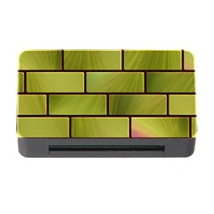 Modern Green Bricks Background Image Memory Card Reader With Cf by Simbadda