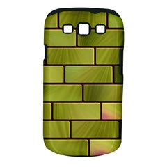 Modern Green Bricks Background Image Samsung Galaxy S Iii Classic Hardshell Case (pc+silicone) by Simbadda