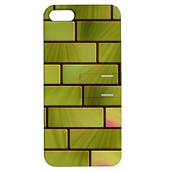 Modern Green Bricks Background Image Apple Iphone 5 Hardshell Case With Stand by Simbadda