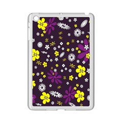 Flowers Floral Background Colorful Vintage Retro Busy Wallpaper Ipad Mini 2 Enamel Coated Cases by Simbadda