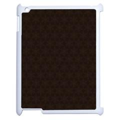 Vintage Paper Kraft Pattern Apple Ipad 2 Case (white) by Simbadda