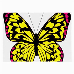 Yellow A Colorful Butterfly Image Large Glasses Cloth by Simbadda