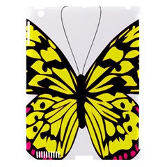 Yellow A Colorful Butterfly Image Apple Ipad 3/4 Hardshell Case (compatible With Smart Cover) by Simbadda