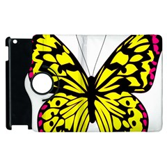 Yellow A Colorful Butterfly Image Apple Ipad 3/4 Flip 360 Case by Simbadda