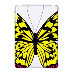 Yellow A Colorful Butterfly Image Apple Ipad Mini Hardshell Case (compatible With Smart Cover) by Simbadda