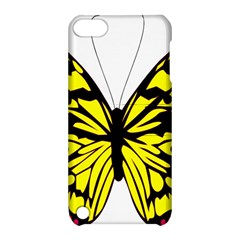 Yellow A Colorful Butterfly Image Apple Ipod Touch 5 Hardshell Case With Stand by Simbadda