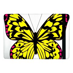 Yellow A Colorful Butterfly Image Samsung Galaxy Tab Pro 10 1  Flip Case by Simbadda