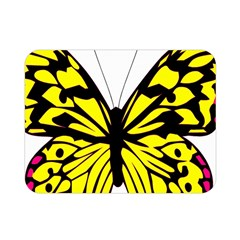 Yellow A Colorful Butterfly Image Double Sided Flano Blanket (mini)  by Simbadda
