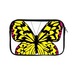 Yellow A Colorful Butterfly Image Apple Macbook Pro 13  Zipper Case by Simbadda