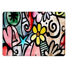 Digitally Painted Abstract Doodle Texture Samsung Galaxy Tab 10 1  P7500 Flip Case by Simbadda