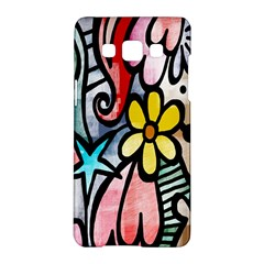 Digitally Painted Abstract Doodle Texture Samsung Galaxy A5 Hardshell Case  by Simbadda