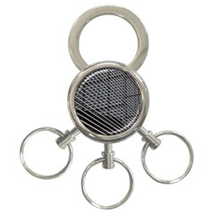 Abstract Architecture Pattern 3 Ring Key Chains by Simbadda