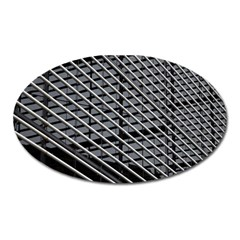 Abstract Architecture Pattern Oval Magnet by Simbadda