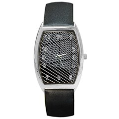 Abstract Architecture Pattern Barrel Style Metal Watch by Simbadda
