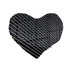Abstract Architecture Pattern Standard 16  Premium Flano Heart Shape Cushions by Simbadda