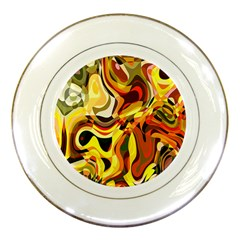 Colourful Abstract Background Design Porcelain Plates by Simbadda