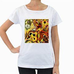 Colourful Abstract Background Design Women s Loose Fit T Shirt (white) by Simbadda