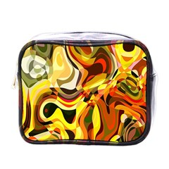 Colourful Abstract Background Design Mini Toiletries Bags by Simbadda