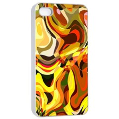Colourful Abstract Background Design Apple Iphone 4/4s Seamless Case (white) by Simbadda