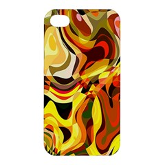 Colourful Abstract Background Design Apple Iphone 4/4s Premium Hardshell Case by Simbadda