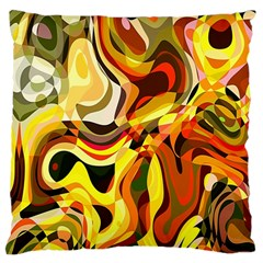 Colourful Abstract Background Design Large Cushion Case (two Sides) by Simbadda