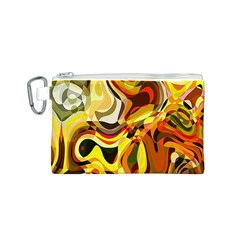 Colourful Abstract Background Design Canvas Cosmetic Bag (s) by Simbadda