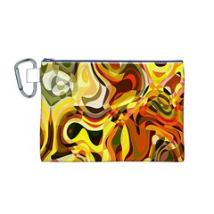 Colourful Abstract Background Design Canvas Cosmetic Bag (m) by Simbadda