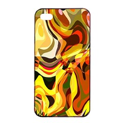 Colourful Abstract Background Design Apple Iphone 4/4s Seamless Case (black) by Simbadda