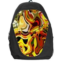 Colourful Abstract Background Design Backpack Bag by Simbadda