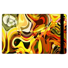 Colourful Abstract Background Design Apple Ipad 2 Flip Case by Simbadda