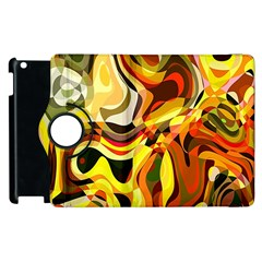 Colourful Abstract Background Design Apple Ipad 3/4 Flip 360 Case by Simbadda