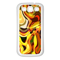Colourful Abstract Background Design Samsung Galaxy S3 Back Case (white) by Simbadda