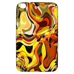 Colourful Abstract Background Design Samsung Galaxy Tab 3 (8 ) T3100 Hardshell Case  by Simbadda