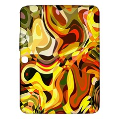 Colourful Abstract Background Design Samsung Galaxy Tab 3 (10 1 ) P5200 Hardshell Case  by Simbadda