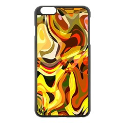 Colourful Abstract Background Design Apple Iphone 6 Plus/6s Plus Black Enamel Case by Simbadda