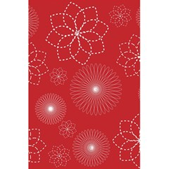 Floral Spirals Wallpaper Background Red Pattern 5 5  X 8 5  Notebooks by Simbadda