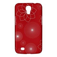 Floral Spirals Wallpaper Background Red Pattern Samsung Galaxy Mega 6 3  I9200 Hardshell Case by Simbadda