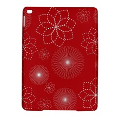 Floral Spirals Wallpaper Background Red Pattern Ipad Air 2 Hardshell Cases by Simbadda
