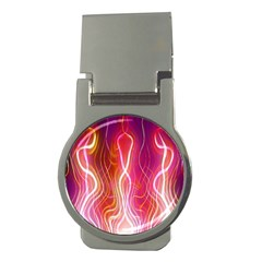 Fire Flames Abstract Background Money Clips (round)  by Simbadda