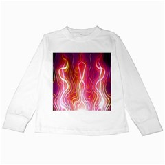 Fire Flames Abstract Background Kids Long Sleeve T Shirts by Simbadda