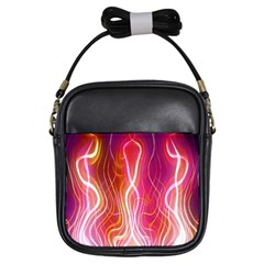 Fire Flames Abstract Background Girls Sling Bags by Simbadda